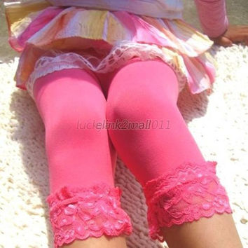 Infant Toddler Kids Girl Leggings Lace Velvet Leggings Pantyhose Stocking 5-9Y