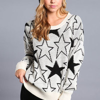 Starry Chunky Knit Sweater - LoveCulture