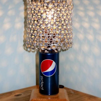 Pepsi Soda Can Lamp with Pull Tab Lampshade - The Pepsi Lover's Essential