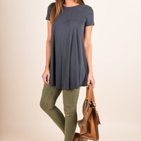 Offer My Love Top, Charcoal