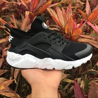 Best Online Sale Nike Air Huarache 4 Rainbow Ultra Breathe Men Women Hurache Black/White Running Sport Casual Shoes Sneakers - 116