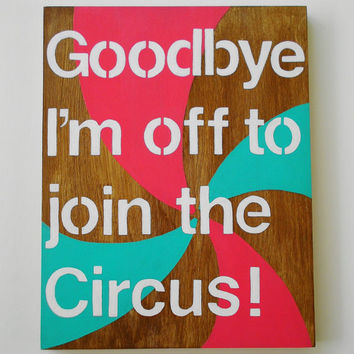 Original acrylic painting on wood, whimsical and colorful pinwheel design, circus theme 11 x 14