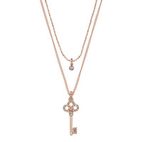 LC Lauren Conrad Key Pendant Layered Necklace