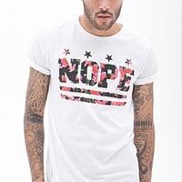 Nope Graphic Tee White/Pink