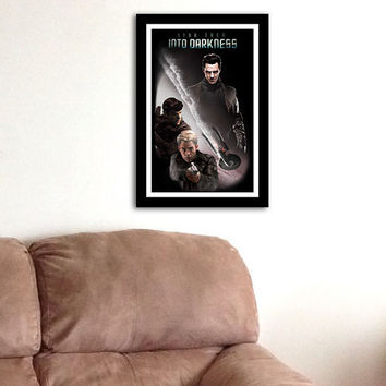 Star Trek Into Darkness Movie Poster 11 x 17 Pine by FADEGrafix