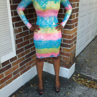 Two Toned Bodycon Dress