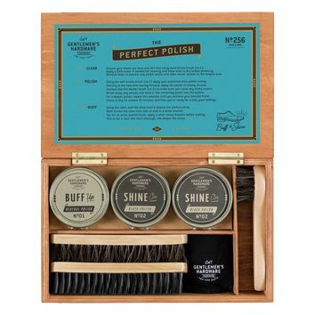WILD AND WOLF SHOE SHINE CIGAR BOX