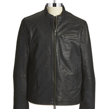 John Varvatos U.S.A. Leather Moto Jacket
