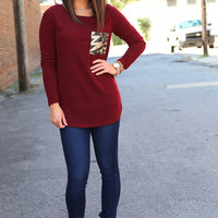 Drops of Jupiter {Sequin Pocket - Burgundy}