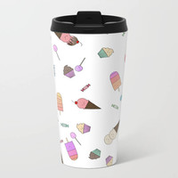 Candy and Ice Cream Travel Mug Metal - Coffee Travel Mug - Hot or Cold Travel Mug - 15oz Mug - Stainless Steel - Made to Order