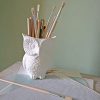 snowy owl pot by berry red | notonthehighstreet.com