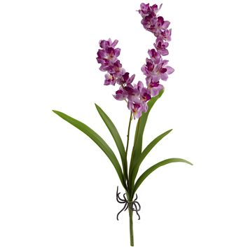 Artificial Flowers -30 Inch Orchid Purple Flower-Set of 6