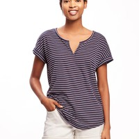Relaxed Rolled-Cuff Tee for Women | Old Navy