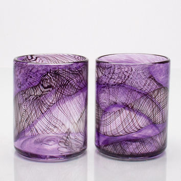 Dark Matter Glasses by Andrew Iannazzi (Art Glass Drinkware) | Artful Home
