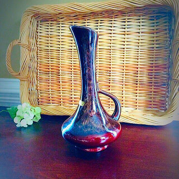 Mid Century Royal Haeger Pottery Vase, Vintage Pottery Handled Ewer, Retro Earth Tone Home Decor