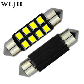 Pure White LED Festoon 8-SMD 2835 12V Auto Bulbs Interior Dome Map Lights Led Car C5W 36mm Light Lamp Bulbs Pathway Lights