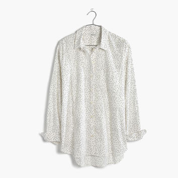 Oversized Ex-Boyfriend Shirt in Dot Scatter : shopmadewell AllProducts | Madewell