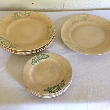 Shabby Chic Plate Antique China Old Dishes Antique Dishes Cottage Chic Decor Shabby Chic Kitchen Patina Taylor Smith Taylor Green Dishes