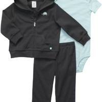 Carter's 3 Pc Cardigan Set - Grey Turtle- Newborn