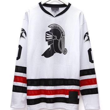 Black Scale Blvck Hockey Jersey - Mens Tee - White