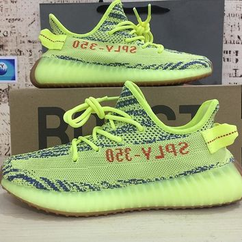 Adidas Yeezy Boost 350 V2 Semi Frozen Yellow Running Shoes c4fe942d3