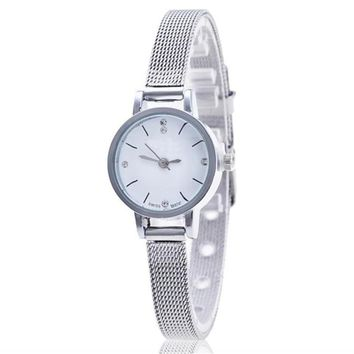 OTOKY watchs women popular  Wristwatch Silver Stainless Steel Mesh Band Ladies Wrist Watch watches women luxury brand