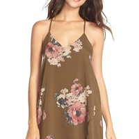 Women's Free People 'Cascades' Floral Chiffon Chemise,