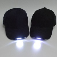 Baseball cap led lights glow cap hat Night fishing fishing cap Hat can lighting the camping trip hats Z00401