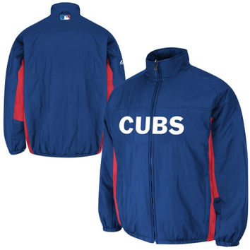 Majestic Chicago Cubs Youth AC Double Climate Full Zip Jacket - Royal Blue - http://www.shareasale.com/m-pr.cfm?merchantID=7124&userID=1042934&productID=522513401 / Chicago Cubs