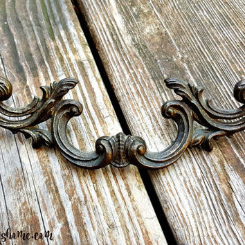 French Provincial Pulls Brass Drawer Pulls Vintage Drawer Pulls KBC Decorative Pulls Furniture Hardware French Country Winged Dresser Pulls