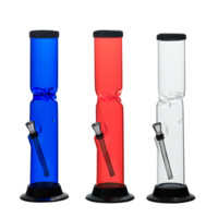 Straight Acrylic Bong with Ice Catcher - 12 Inches - Assorted Colors