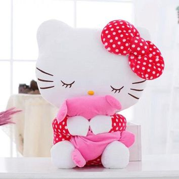20CM High Quality Kids Lovely Hello Kitty Plush Toys Hug Soft Pillows KT Cat Stuffed Dolls Girls Toys Gift Mini Animal Dolls