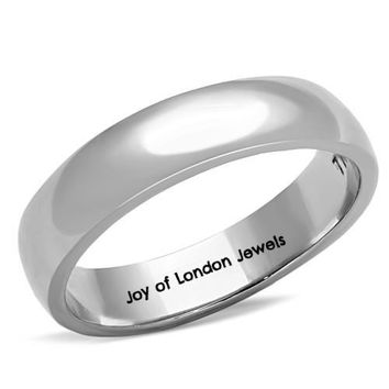 Men's or Women's Stainless Steel Wedding Bands Ring