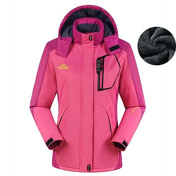 Women's Winter Fleece Jackets Outdoor Sports Thermal Waterproof Coats Hiking Camping Trekking Climbing Skiing Windbreaker MB119