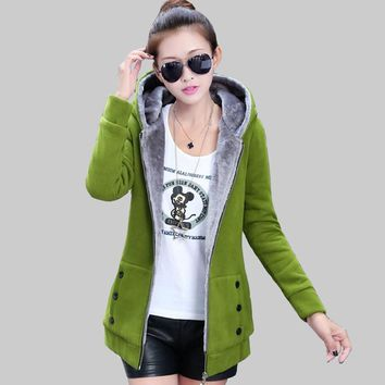 Fashion Korean Coat Hooded Thicken Padded Jacket Solid Color Slim Large Size M-XXXL