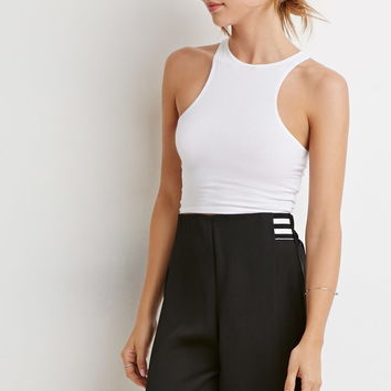 Contemporary High-Waisted Pleated Shorts