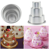 deals] Mini 3-Tier Cupcake Pudding Chocolate Cake Mold Baking Pan Mould Party = 5988084033