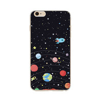 Astronaut Stars Dark Blue Back Case Cover For Apple iPhone 6/6s 4.7