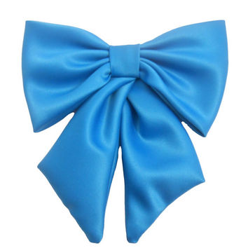 Large Satin Fabric Hair Bow. Extra Large Hair Bow, Big Bow, Retro Hair Bow, Fabric Hair Bow