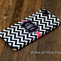 Classic Black Chevron Monogram iPhone 6s Plus 6 5S 5 5C 4 Protective Case#929
