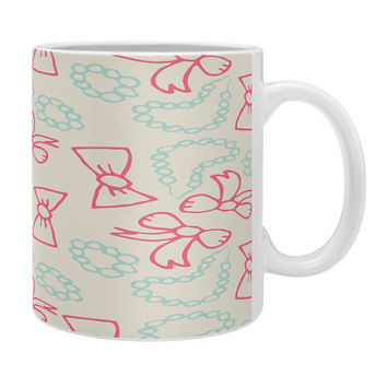 Allyson Johnson Pearls And Bows Coffee Mug