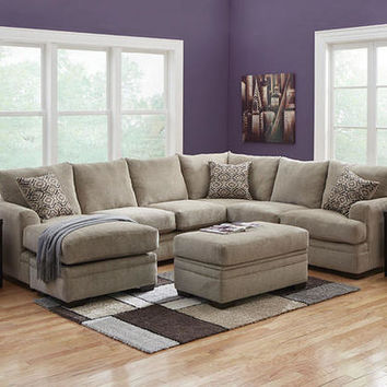 Platinum Gray 2 Pc. Sectional (reverse) - Sectionals - Living Room - mobile - theroomplace - Product Groups