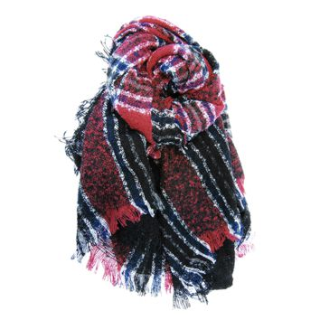 Boucle Plaid Blanket Scarf