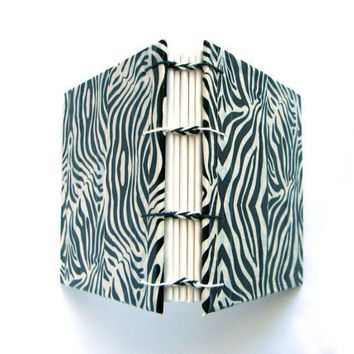 Wild Zebra Duct Tape Book Coptic Stitch by weareboundtogether