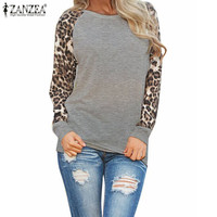Fashion Blusas 2015 Ladies Spring Autumn Long Sleeve Leopard Loose Casual Tees