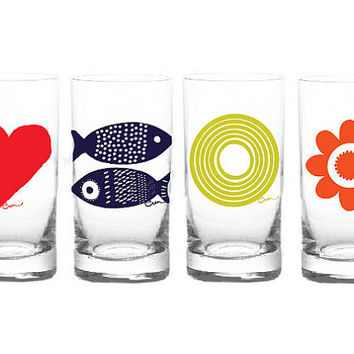 Set of 4 Drinking Glasses (you choose your set)