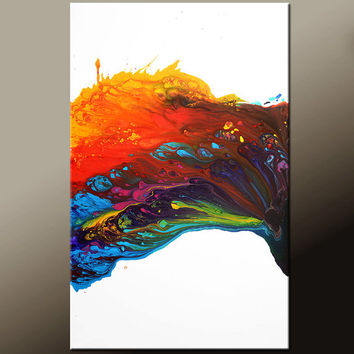 Abstract Canvas Art Painting Canvas 36x24 Original Modern Contemporary Paintings by Destiny Womack - dWo - Chasing Rainbows