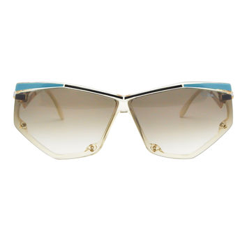 Cazal Vintage Navy Blue and Seafoam Sunglasses 861 283