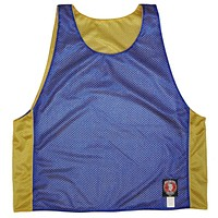 Yellow and Royal Reversible Lacrosse Pinnie