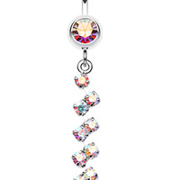 Journey Tier Sparkle Belly Button Ring